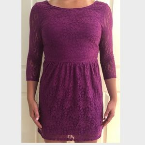 Purple Lace American Eagle Outfitters Dress